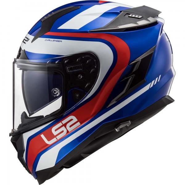 Racinghelm LS2 FF327 Challenger Fusion Blau-Rot