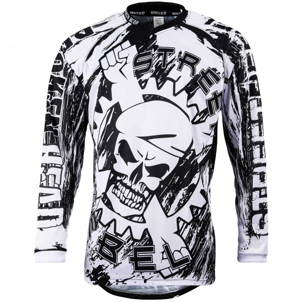 Broken Head MX Jersey Street Rebel schwarz-weiß