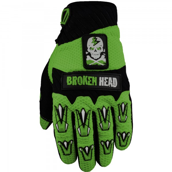 Broken Head MX-Handschuhe Faustschlag Lime