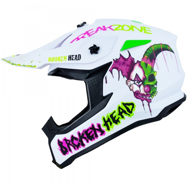 Broken Head Crosshelm Freakzone weiss-pink-grün