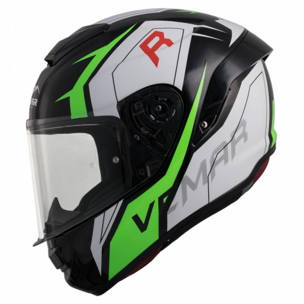 Vemar Hurricane Racing Helm grün weiss