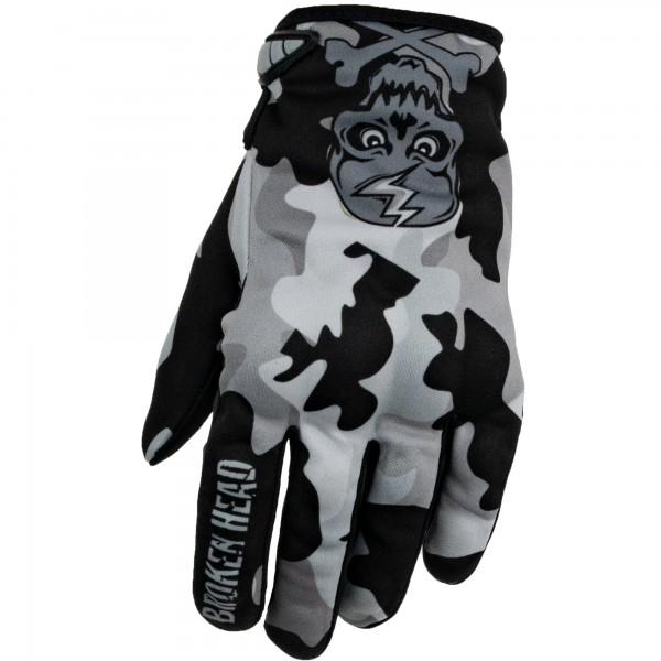 Broken Head MX Handschuhe Rebelution Camouflage grau