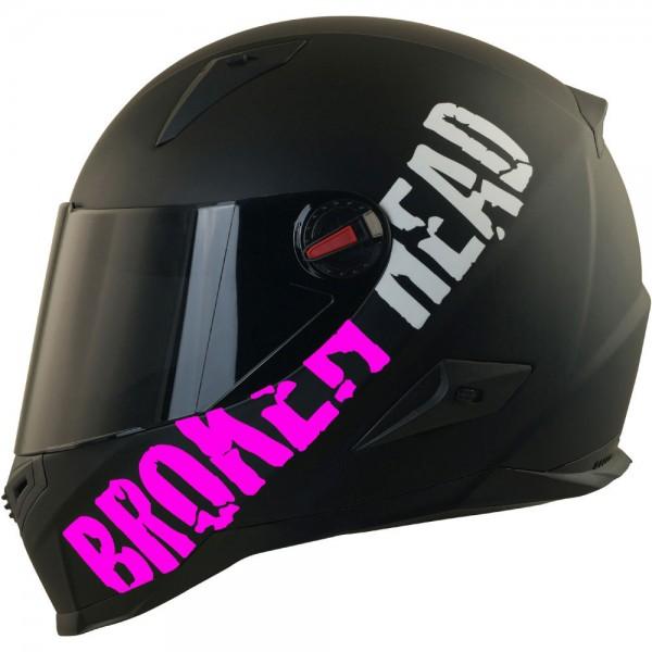 Broken Head BeProud Pink Set Motorradhelm incl. schwarzem Visier