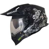Broken Head Fullgas Viking VX2 schwarz matt Enduro Motocross Helm