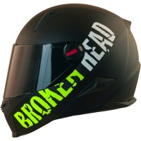 Broken Head BeProud Grün Set Motorradhelm incl. schwarzem Visier