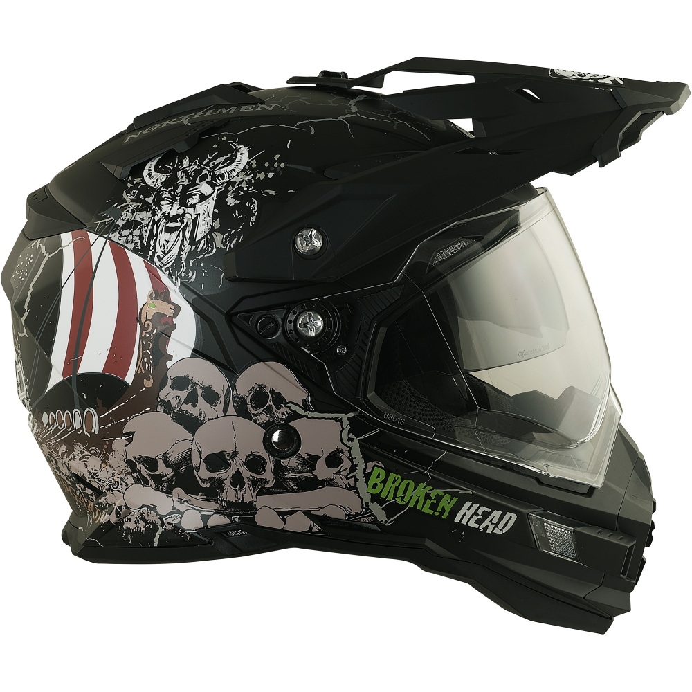 broken head fullgas viking schwarz matt enduro motocross helm. Black Bedroom Furniture Sets. Home Design Ideas