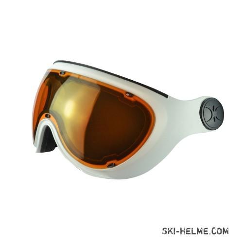 Slokker Raider Photochrom polarisierendes Visier orange-weiß