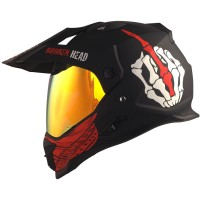 Broken Head Endurohelm Street Rebel rot SET inkl. rot verspiegeltem Visier
