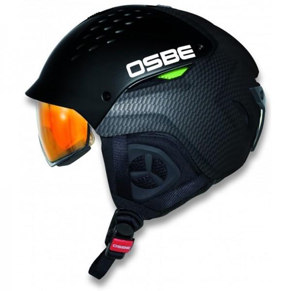 OSBE Hybrid carb-black Skihelm mit Visier selbst-tönend