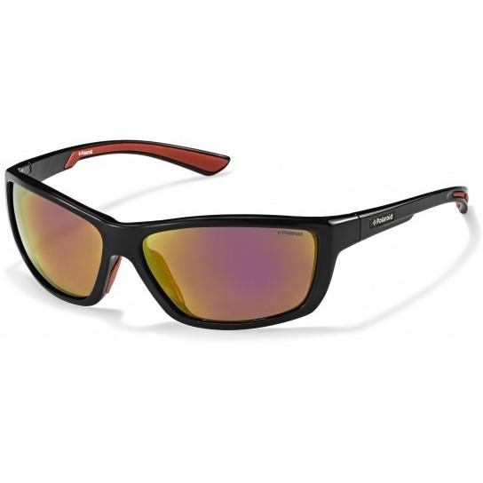 Polaroid Sonnenbrille Sport P7400 0A2-JB Schwarz Rot