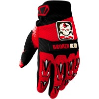 Broken Head MX-Handschuhe Faustschlag Rot