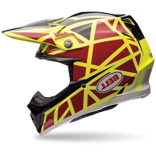 Bell Moto-9 Flex Carbon Strapped Gelb Orange