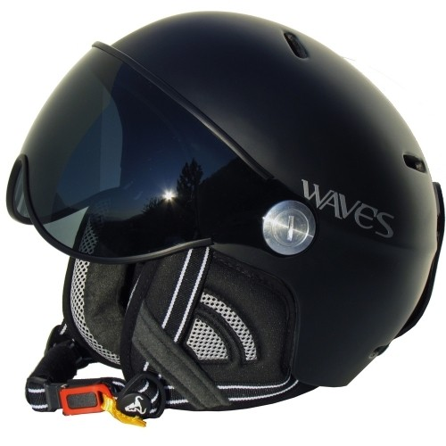 Waves Skihelm Headhunter Visor schwarz matt
