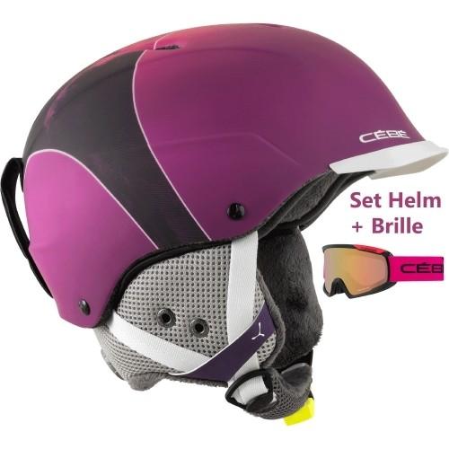 cebe skihelm contest visor pro pink mountain set mit brille helme m dl. Black Bedroom Furniture Sets. Home Design Ideas