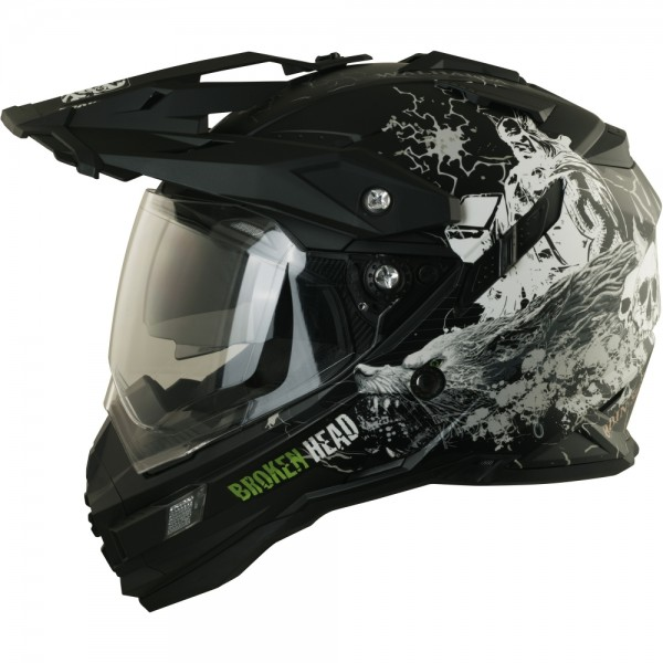 Broken Head Fullgas Viking schwarz matt Enduro Motocross Helm