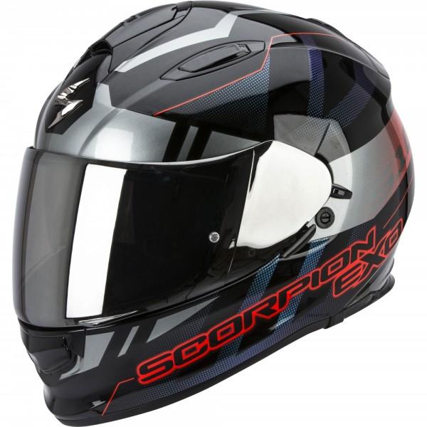 Scorpion EXO 510 Stage Schwarz Silber Rot