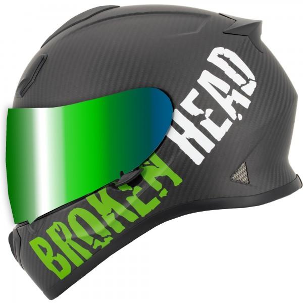 Broken Head BeProud Carbon Grün Limited Edition inkl. grün verspiegeltem Visier