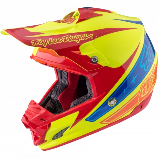 Troy Lee Designs SE3 Light Corse Yellow MX Helm