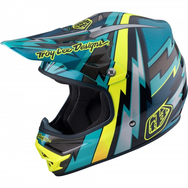 Troy Lee Designs AIR Light Beams Green MX Helm (Größe M)