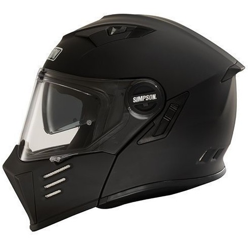 Simpson Klapphelm Darksome schwarz matt